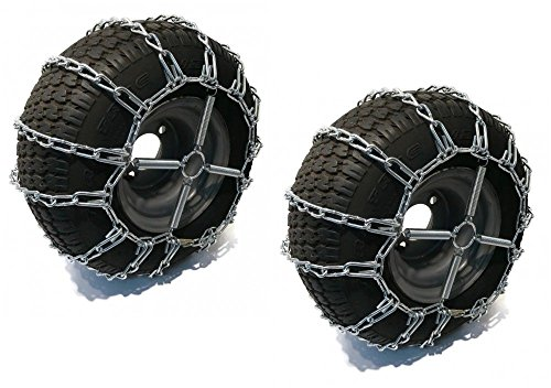 2 Link TIRE CHAINS & TENSIONERS 20x8x8 for John Deere Lawn Mower Tractor Rider by The ROP Shop by The ROP Shop