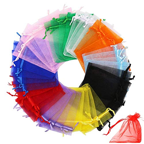 - Drawstring Organza Bag, INTVN Wedding Favor Bags Christmas Gift Bags Jewelry Pouches Candy Mesh Pouches, 200 pcs, 7x9cm, Mixed Color