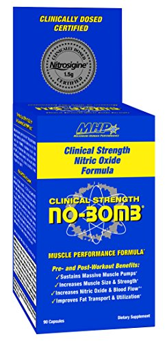 MHP Clinical Strength No-Bomb Supplement, 90 Count