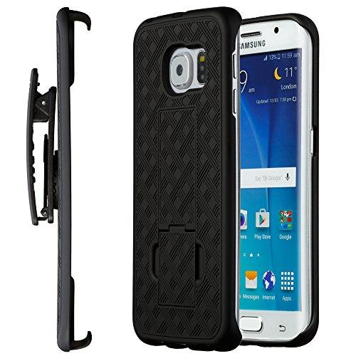 Galaxy S6 Edge Plus Case, Moona Shell Holster Combo Case for Samsung Galaxy S6 Edge Plus with Kickstand & Belt Clip 10 Year Warranty! Galaxy S6 Edge Plus Belt Clip Case, S6 Edge+ Thin Holster Case