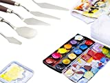 EVINIS 5PcsStainless Steel Spatula Palette
