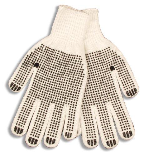 Warm Kinco Grip (Kinco 1777-XL White Poly-Cotton Knit Glove with PVC Grip Dots)