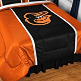 MLB Baltimore Orioles Sidelines Comforter, Twin, Black