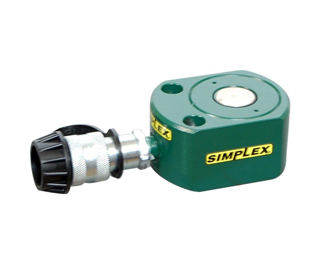 Simplex RFS20 Steel Flat Jack Spring Return Cylinder, 9030 PSI, 2.38'' Bore, 0.44'' Stroke