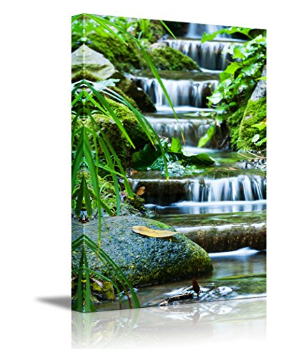 Beautiful Veil Cascading Waterfalls Mossy Rocks ing