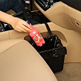Automotive : KMMOTORS Jopps Comfortable Car Garbage Can Portable Drive Bin Premium Hanging Wastebasket Seat Back Organizer