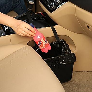 KMMOTORS Jopps Comfortable Car Garbage Bin Original Patented Portable Drive Bin Premium Hanging Wastebasket