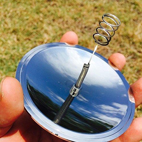 Easyinsmile Camping Solar Spark Lighter Fire Starter Solar Cigarette Lighter Survival Tools Home Yard Convenience Fire Starter