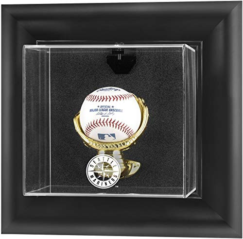 (Moumnted Memories Seattle Mariners Framed Wall Mounted Logo Baseball Display Case)