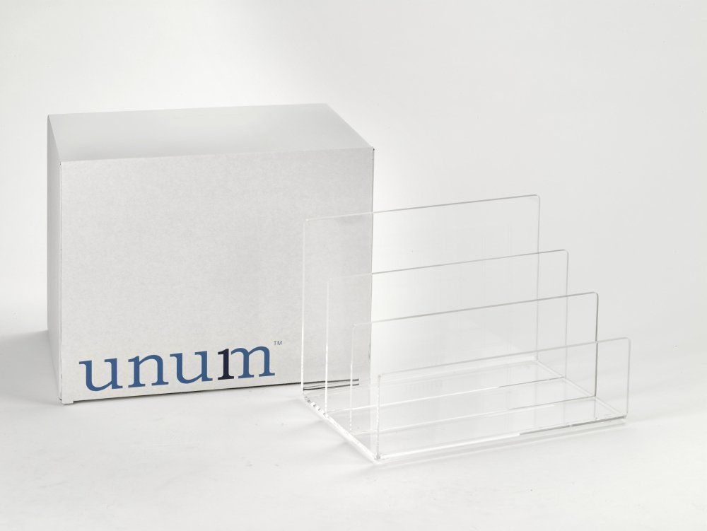 Galleon Crystal Clear Acrylic Desktop File Sorter Holder