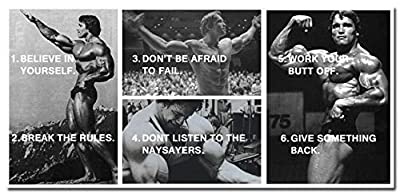 Tomorrow sunny ARNOLD SCHWARZENEGGER Bodybuilding Motivational Quotes Silk Poster 24x50 inches