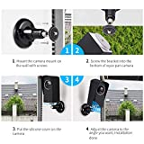 Wyze Cam Pan Silicone Case with Wall Mount Bracket, Wyze Cam Wall Mount Set Protective Adjustable for Indoor and Outdoor Anti-Sun Glare and UV Protection Easy Installation(Black)-by Aotnex