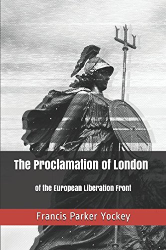 Book cover from The Proclamation of London by Francis Parker Yockey