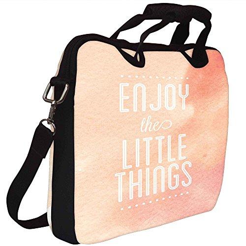 Snoogg Genießen Sie die Kleinigkeiten Gedruckt Notebook-Tasche mit Schultergurt 15 bis 15,6 Zoll