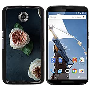 For Motorola NEXUS 6 / Moto X / Moto X Pro , S-type® Blossoms White Orange Decoration - Arte & diseño plástico duro Fundas Cover Cubre Hard Case Cover