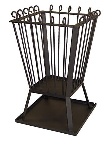 IMEX EL ZORRO Estufa de leña para Exterior, 40 x 40 x 70 cm Negro