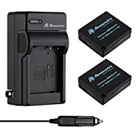 Powerextra 2 Pack Replacement Battery and Charger for Panasonic DMW-BLE9, DMW...