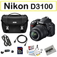 Shooter Package Featuring the Nikon D3100 Digital Camera, 32GB Opteka Class 10 Memory Card and More