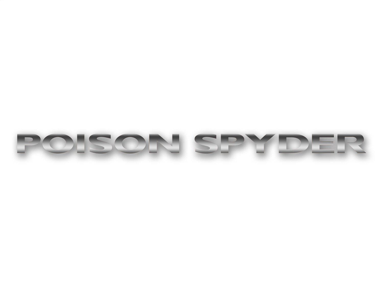 Poison Spyder Hood Side Decal - Silver