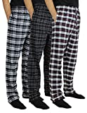 New 3 Pack:Men's Cotton Super Soft Lightweight Flannel Buffalo Plaid Pajama Pyjamas Pants/Lounge PJS Bottoms Sleepwear,ST 2-XL