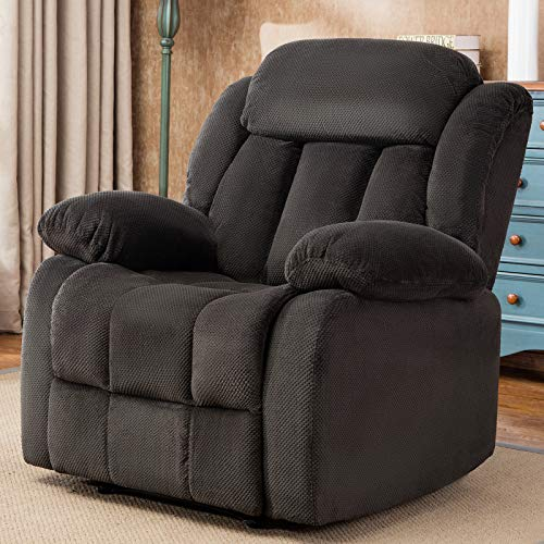 ANJ HOME Oversized Fabric Recliner Chair for Living Room Lounge Chair (Grey)