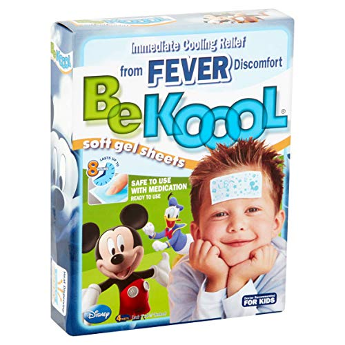 Be Koool Gel Sheets For Kids Fever 4 Each (Pack of 6) Be Koool Gel Sheets