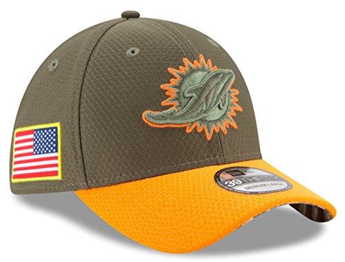 New Era Miami Dolphins NFL 39THIRTY 2017 Sideline Salute to Service Hat (Miami Dolphins Salute To Service Hat Mens)