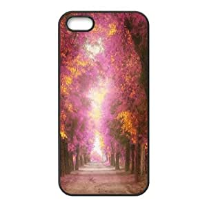 For Iphone 5C Phone Case Cover Pink Park Alley Hard Shell Back Black For Iphone 5C Phone Case Cover 315601
