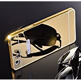 CHL Metal Bumper Acrylic Mirror Back Cover Case For Oppo Neo 7 - Gold