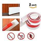 weather seal for front door - Door Draft Stopper 2 pack – Weather Stripping Seal Sound Proof and Block Cold Hot Air Seal The Gap At The Bottom Of Door 1.57