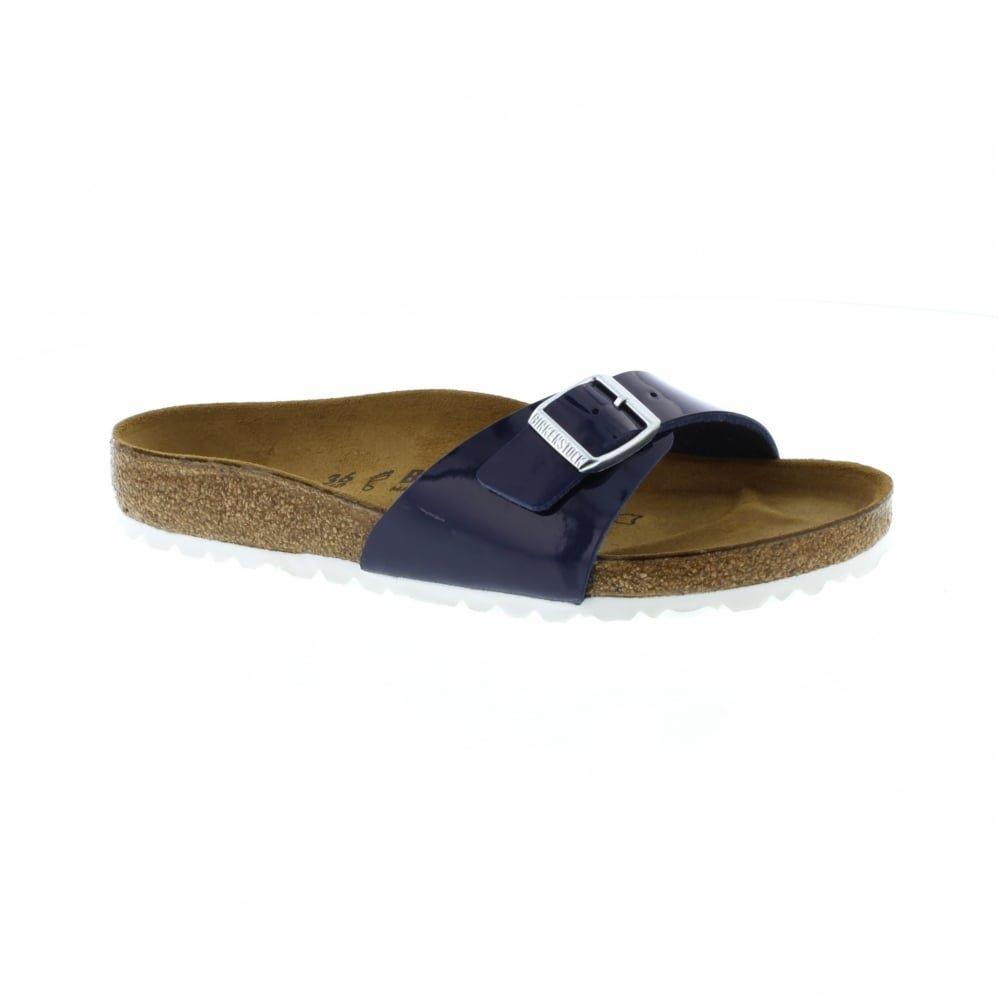 Birkenstock Madrid Regular Fit - Patent Dress Blue 1005311 (Man-Made) Womens Sandals 43 EU by Birkenstock (Image #1)