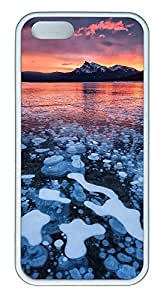 iPhone 5 5S Case landscapes nature ice lake 56 TPU Custom iPhone 5 5S Case Cover White