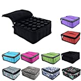 Essential Oils Storage – pureGLO 30 Bottle Essential Oil Carrying Case - Essential Oil Organizer Bag Travel Carrier Holds 5ml, 10ml, 15ml Vials – Holder for Young Living & Doterra Containers (Black)