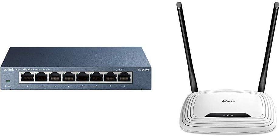 Tp Link Tl Sg108 V3 8 Port Gigabit Network Switch Blue Computers Accessories