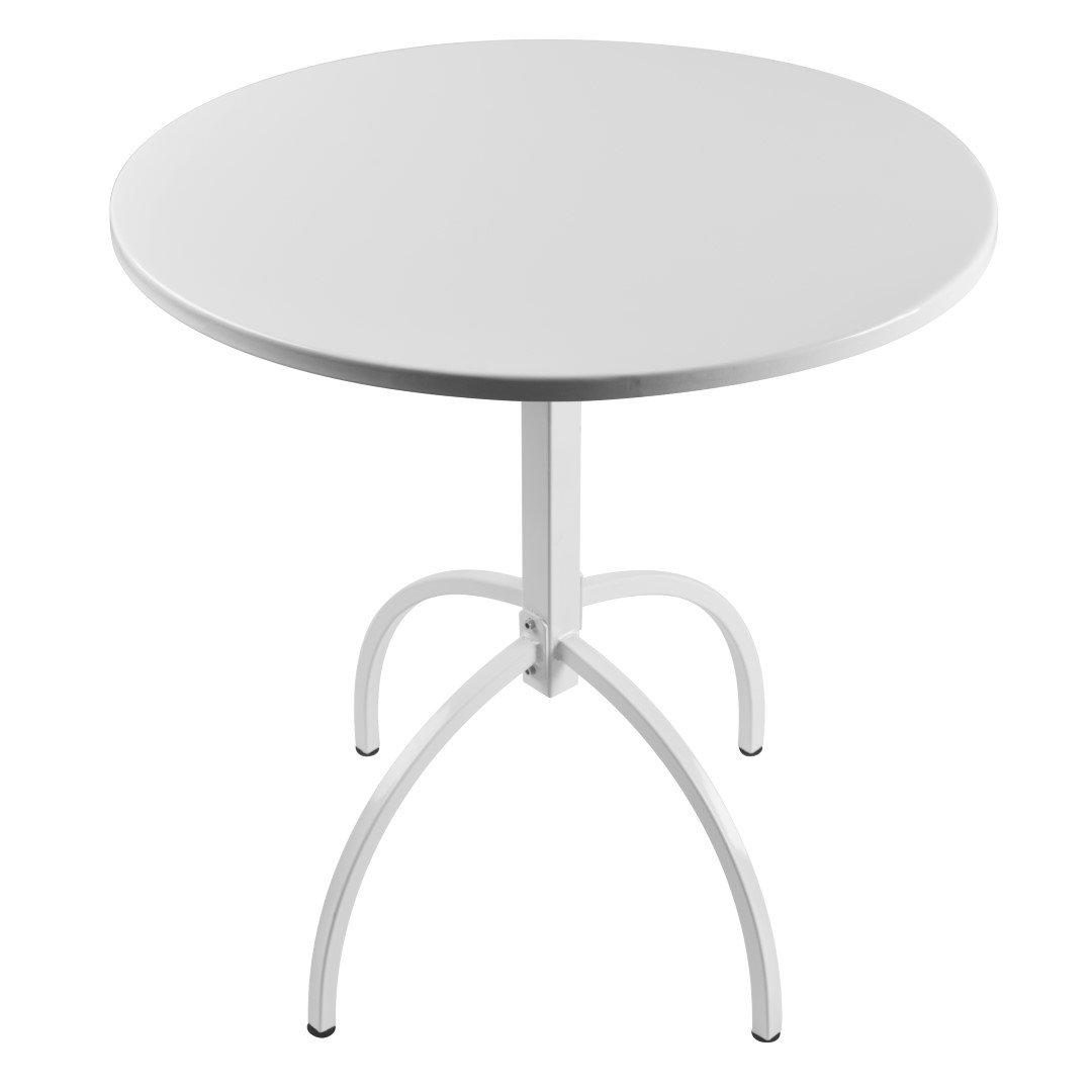 Porthos Home Bauhus Designs WCB004A WHT Milton Table, White by Porthos Home