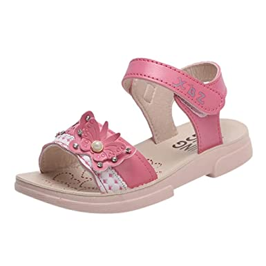 6673e865a914c Amazon.com: Kids Girl Summer Sandals Casual Shoes for 3-13 Years Old ...
