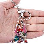 Marte&Joven Basset Hound Keychain for Women Dog Lover Unique Enamel Dog Jewelry Gift 6