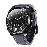 KOSSFER Men's Black Analog Anti Reverse Bezel Watch Men's Watch with Black Leather Strap Watch Red