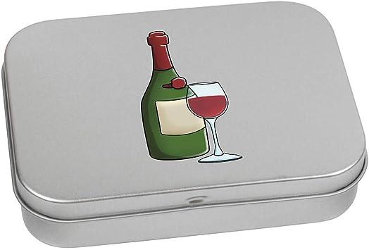 Azeeda 110mm x 80mm Vino Tinto Caja de Almacenamiento / Lata de Metal (TT00103823): Amazon.es: Juguetes y juegos