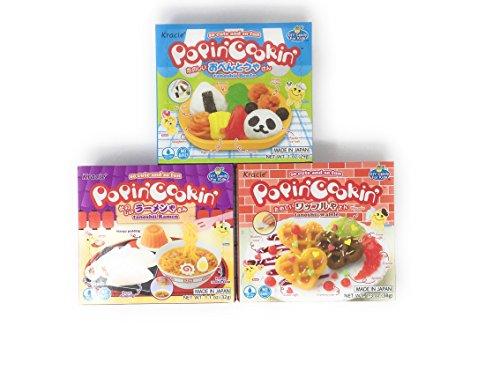 - Popin' Cookin' DIY Candy Kit (3 Pack Variety) - Tanoshii Bento, Ramen and Waffle