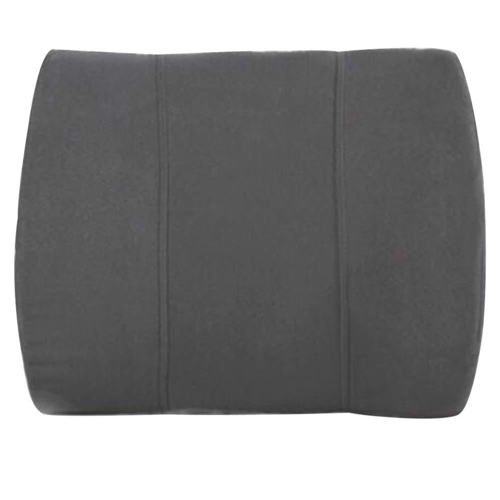 RUIRUIY Car Lumbar Pillow Cushions Support Back Cushion Curve Design Four Seasons Available Comfortable Skin Removable Cleaning Ergonomics,Gray (Color : Gray, Size : 36x32x16.5CM)