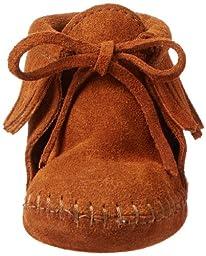 Minnetonka Fringe Bootie (Infant/Toddler),Brown,2 M US Infant