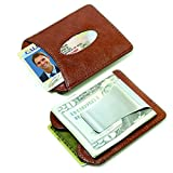 Storus Smart Money Clip Leather - Billfold Money Clip, Holds 12 Cards and 30 Bills, 3.75 x 3 x .5