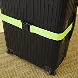 2 Pack Luggage Straps Set Suitcase Belts Neon