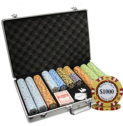 MRC 650pcs Monte Carlo Poker Club Poker Chips Set with Aluminum Case Custom Build by Mrc Poker
