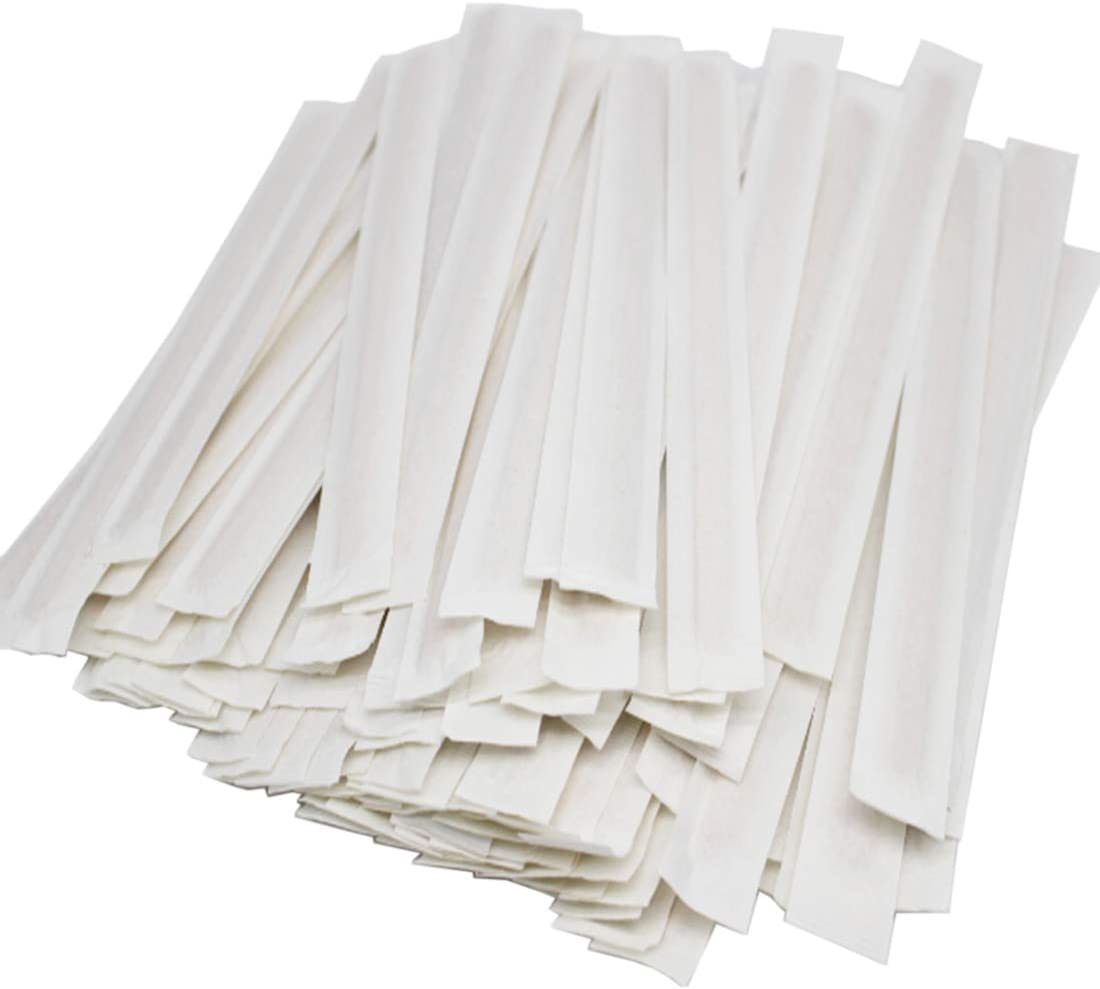 WWYICHEN 100pcs 7 Inch Disposable Independent Wrapped Wooden Coffee Beverage Stirrers