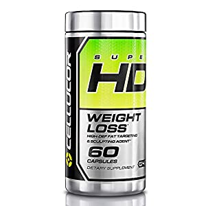 Cellucor Super HD Thermogenic Fat Burner, Appetite Suppressant & Metaboltism Booster for Weight Loss, 60 Capsules, G4