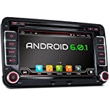 With reviewer camera+ Canbus!!! 7'' 2 Din android 6.0 Qure core Car DVD Player navigation for VW Volkswage,Support Mirror Link/OBD2/Subwoofer/RDS/Bluetooth Radio
