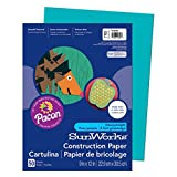 School Smart Construction Paper - 9 x 12 Inches - Pack of 50 - Turquoise