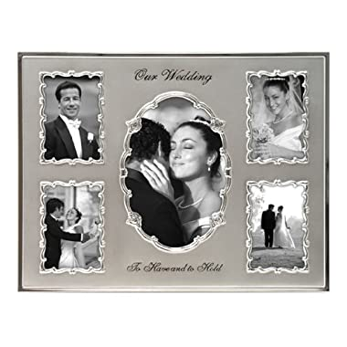 Malden Our Wedding 5-Opening Collage Frame, 5-Openings in a Variety of Sizes